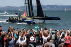 Artemis Racing lost the Louis Vuitton Cup semifinals, but won the admiration of all involved in the sport. Photo / Abner Kingman