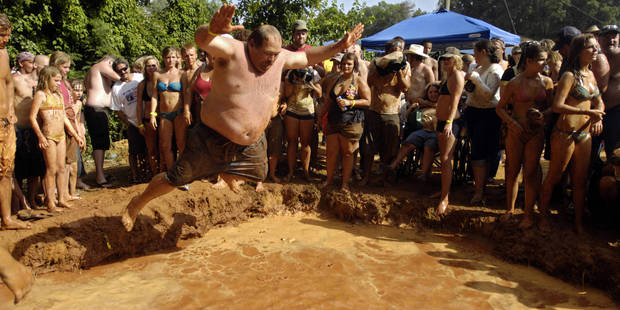 Yee-hah! It's The Redneck Games. Photo / Supplied