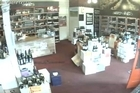 Wine bottles fall from shelves and displays during the 6.6 quake at Glengarry Wines in Kelburn, Wellington. Courtesy: Youtube.com/Glengarry Wine