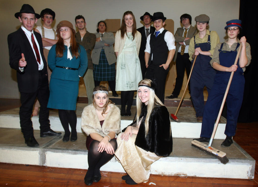 wta050813lfbugsy08.jpg Wairarapa College production Bugsy Malone costume try on.