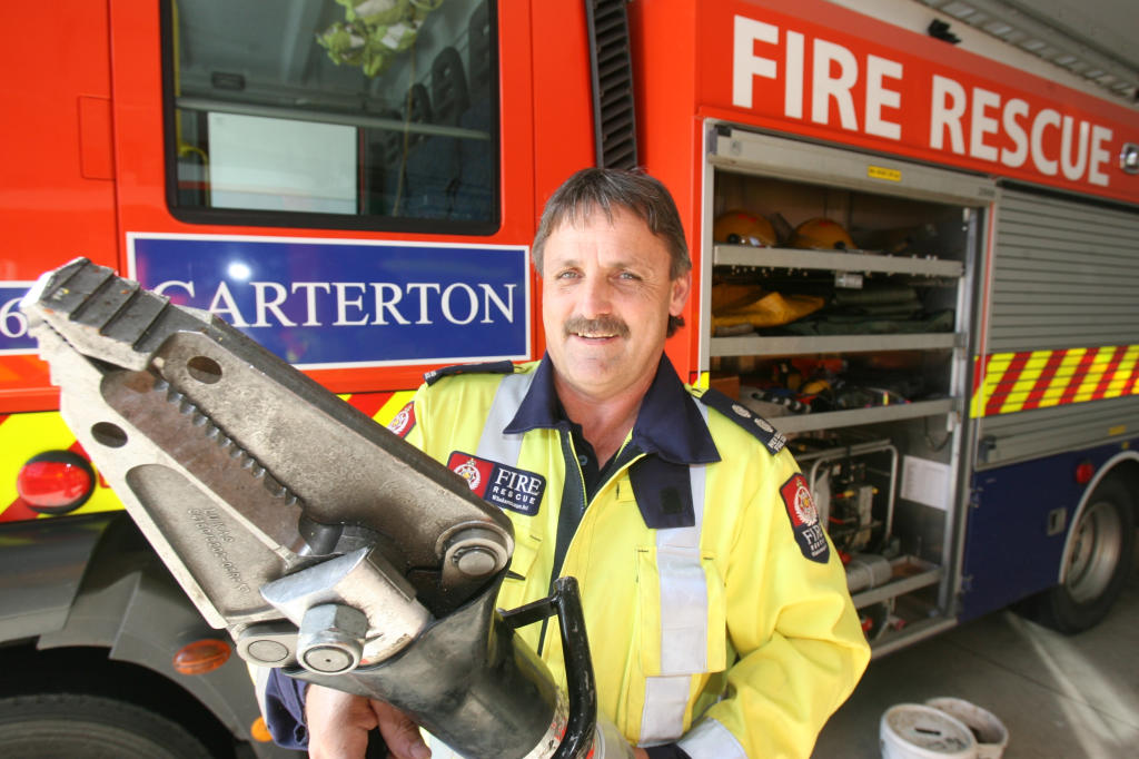 wta050813lfjaws.jpg Richard Epplett, Carterton Fire Brigade senior station officer, is seeking car wrecks for use in training a first-time Road Crash Rescue Challenge team in the town.