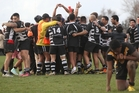 Pikiao Warriors celebrate their win over Taupo Phoenix at Puketawhero Park. Photo / Stephen Parker