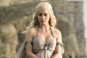 Emilia Clarke plays Daenerys Tragaryen in Game of Thrones.
