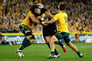 Ma'a Nonu used his explosive power to damaging effect against the Wallabies. Photo / Getty Images