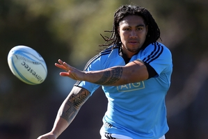 Ma'a Nonu would have to last until the 2015 World Cup to notch up 100 tests - and that might not happen. Picture/Getty Images