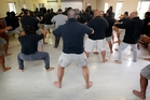 Waikeria Prison inmates bond in a kapa haka group. Photo / Christine Cornege