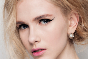 The Kate Sylvester hair and beauty look by Stephen Marr and M.A.C. for The Marr Factory.. Photo / Oliver Rose