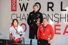 Takayuki Suzuki of Japan, silver, Cameron Leslie, gold, and Jonas Larsen of Denmark, bronze.