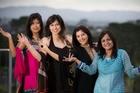 Prenita Jamnadas, Leena Kapadia, Nayana Masters and Nivedita Sethi are buzzing about the visit. Photo / Greg Bowker