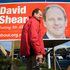 Mt Albert Candidate David Shearer puts up an election hoarding in the Mt Albert electorate, May 2009. Photo / Jason Dorday