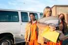Taylor Schilling, front, Vicky Jeudy and Dascha Polanco star in 'Orange is the New Black'.
