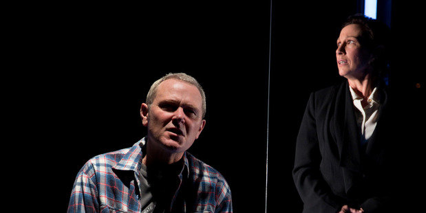 Stephen Lovatt and Alison Bruce in Speaking in Tongues, a play which raises a lot more questions than answers. Photo / Andrew Malmo