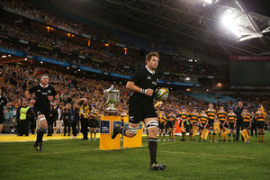 The Aussies will be having nightmares, thinking they are never going to see the back of Richie McCaw. Photo / Getty Images