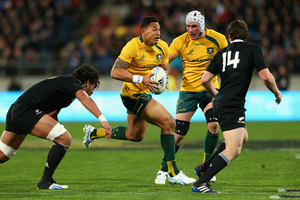 Israel Folau in full flight. Photo / Getty Images