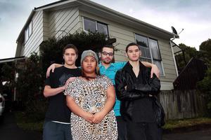 Kyle, left, Moana and husband Nathan, and William Marsters. Photo / Doug Sherring