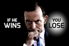 The Labor Government's latest ads put a scary-looking Tony Abbott front and centre, as promises of a positive campaign are all but forgotten.