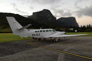 The Gisborne-based Kiwi Air twin-engine Cessna F406 is helping in the search.