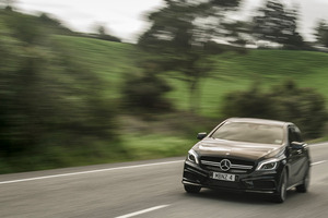 The Mercedes-Benz A 45 AMG excels in all areas. Pictures / Ted Baghurst