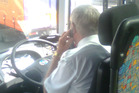 An errant driver pictured using a cellphone at the wheel. Photo / Barry Bloomfield