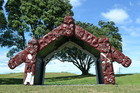 The Tohu Maumahara (Symbol of Remembrance) for the Battle of Rangiriri. Photo / New Zealand Historic Places Trust