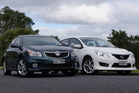 The Holden Cruze SRI hatchback takes on Nissan's icon Pulsar SSS. Photo / David Linklater
