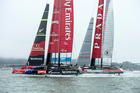 Emirates Team New Zealand and Luna Rossa. Photo / Getty Images