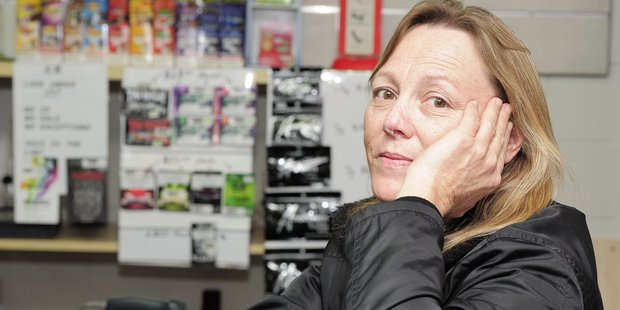 A Tease Adult shop's Vanessa Gibson said business has been booming since they were one of three Western Bay retailers who received a licence to sell synthetic cannabis.  Photo / George Novak