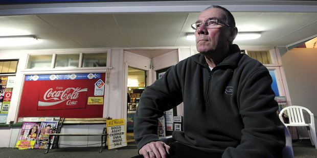 Phil Boyte says he would have to shut down if a proposed idea to ban cigarettes from dairies near schools went ahead.  Photo / George Novak