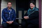 Zane Wharewaka, left, who counts himself lucky to live at the home, and Roni Albert from Te Whakaruruhau. Photo / Christine Cornege