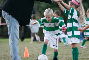 Coaching children's sport is usually unpaid, but a hugely rewarding experience. Photo / David Broome