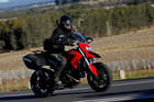 Jacqui Madelin tests the Ducati Hyperstrada at the recent Australia launch. Photo / Supplied