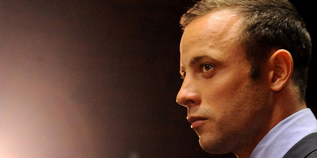 Oscar Pistorius appeared in a Pretoria court last night for the preliminary hearing in his trial for the murder of Reeva Steenkamp. He is pictured at a hearing in February. Photo/ AP