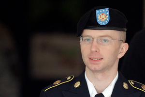 Supporters of Bradley Manning condemned the sentence and called him their hero. Photo / AP