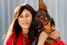 Trainer Merenia Donne and friend. Photo / NZ Herald
