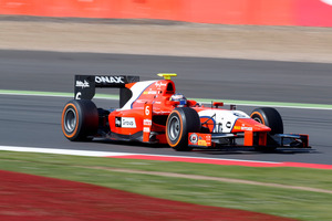 Mitch Evans racing during Round five of the GP2 series, at Silverstone. Photo / GP2 Media