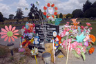 040209aw2 Grave of murdered toddler Nia Glassie in Tokoroa. 04 February 2009 The Daily Post Picture by Andrew Warner.