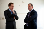 Labour leader David Shearer (R) with Greens co-leader Russel Norman. Photo / Dean Purcell