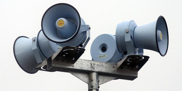 A million dollar tsunami siren plan has been scrapped by the Tauranga City Council.  Photo / File