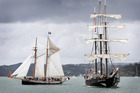 The R Tucker Thompson and the Spirit of New Zealand will be part of a fleet of at least nine tall ships due in Northland in October. Photo / Chris Rudsdale