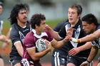 Action from NZ 16s and the Queensland Academy of Sports at Massey Park in Auckland last year. Photo / NZRL