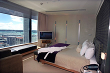 Players are put up in hotels such as the SkyCity Grand during their stay in the city. Photo / HOS
