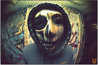 Chris Fountain has been unmasked as controversial rapper The Phantom. Photo / Independent