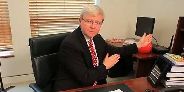 Kevin Rudd dances in the video for Round and Round. Photo / YouTube