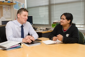 Andrew McKenzie, chief financial officer at Auckland Council, was shadowed by international student Nupur Chawla.