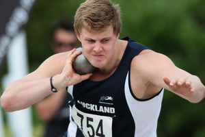 New Zealand shot putter Jacko Gill has broken the world junior record with a throw of 23.00 metres this afternoon. Photo / Getty Images.