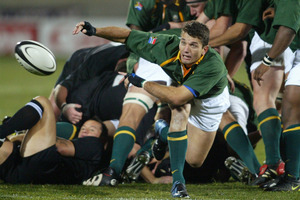 Joost van der Westhuizen in action against the All Blacks in 2003. Photo / Mark Mitchell