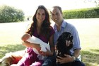 The latest photo of the royal family, taken by Kate's father. Photo / AFP