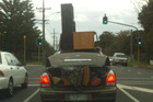 No trailer, no problem! Snapped last Tuesday afternoon in West Auckland by a gobsmacked Emma.