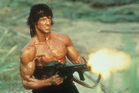 Sylvester Stallone as Rambo.