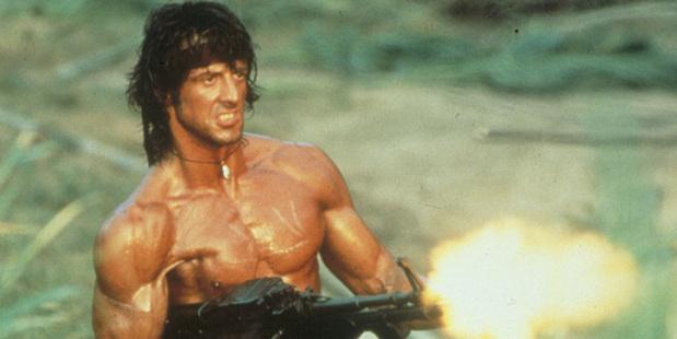 Sylvester Stallone as Rambo.
